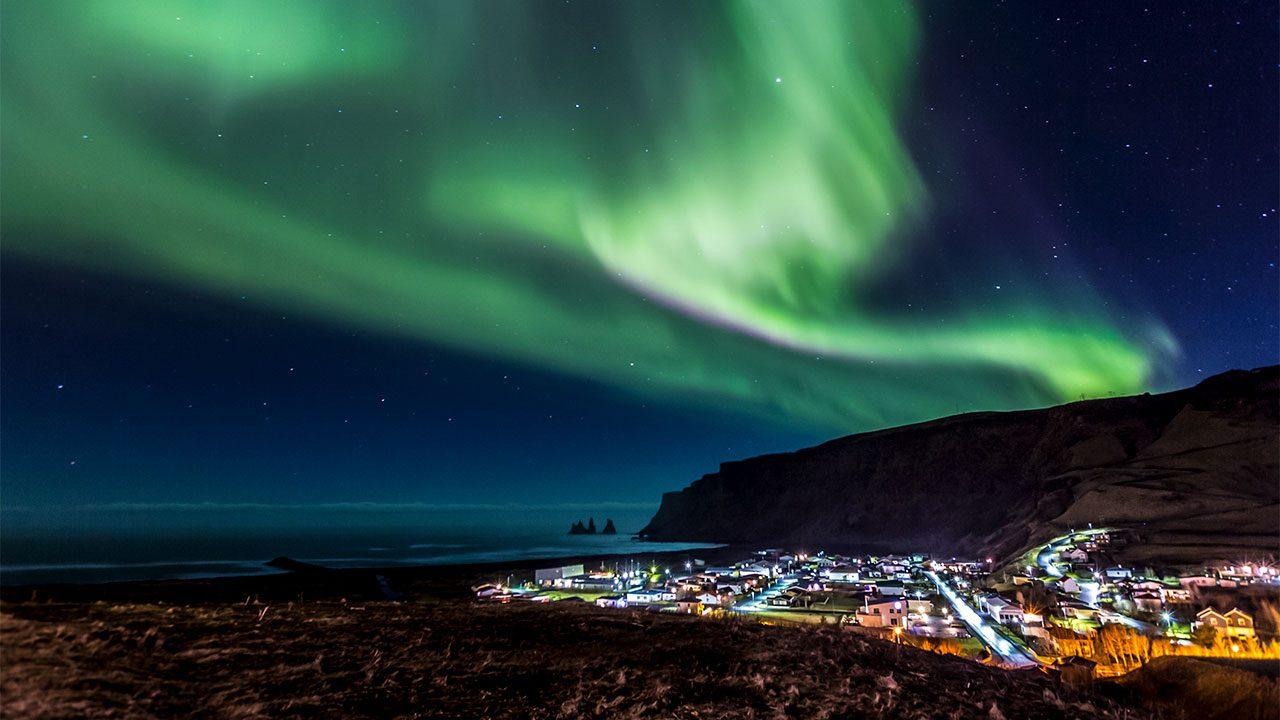 Electric blue auroras light up skies in Northern Hemisphere