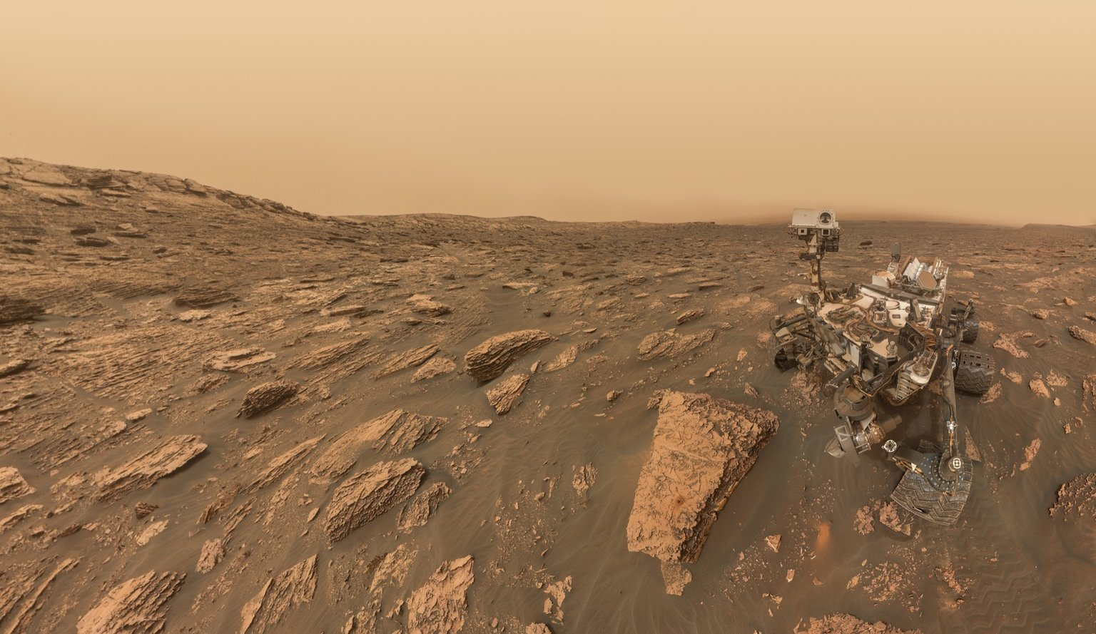 While Opportunity's Mission is in Danger, NASA's Curiosity Rover Took a Selfie During a Storm on ...