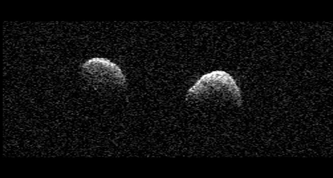 Rare double asteroid scoots by Earth